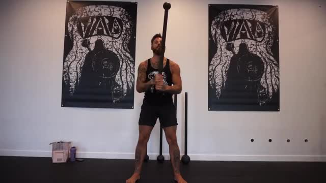 Steel Mace 360 to Rotational Swing to Curl demonstration