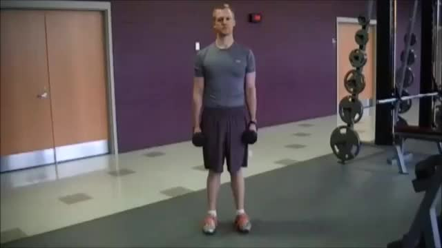 Side Lunge and Press demonstration