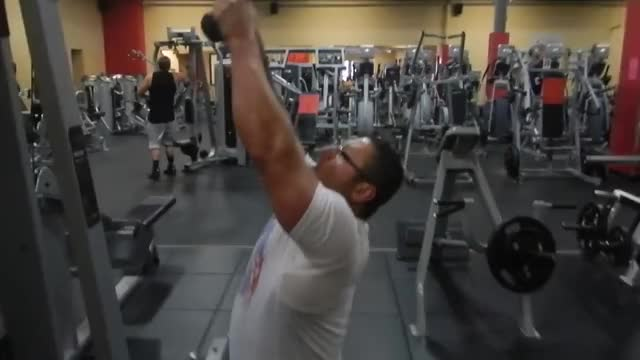 Rope Lat Pull Down demonstration