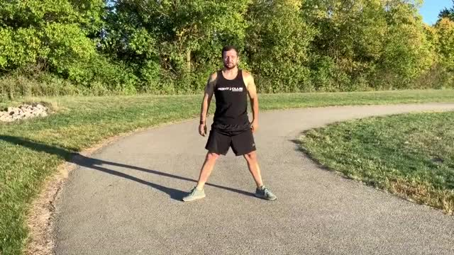 Sumo Squat to Calf Raise demonstration