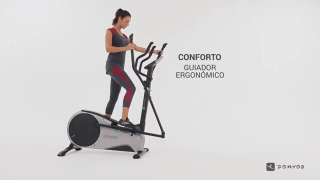 Female Cycle Cross-Trainer demonstration