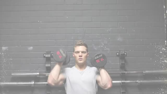 Standing Neutral Grip Alternating Dumbbell Press demonstration