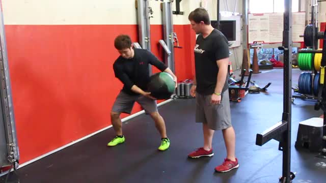 Medicine Ball Rotational Throw demonstration