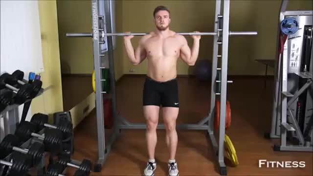 Narrow Smith Machine Squat demonstration