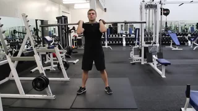 Barbell Front Squat to Push Press demonstration