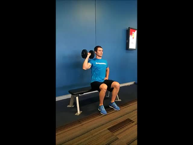 One Arm Seated Dumbbell Press demonstration