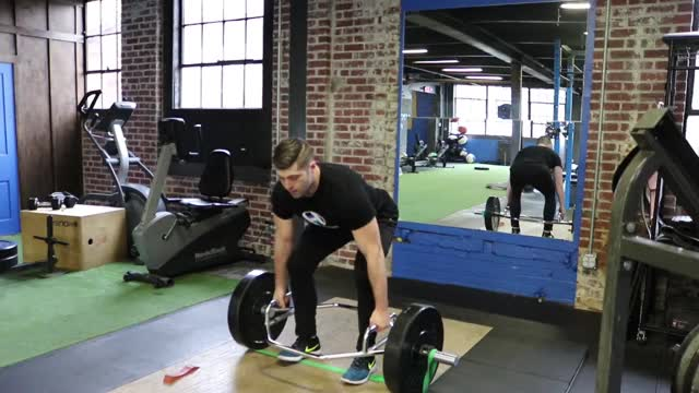 Banded Trap Bar Deadlift demonstration