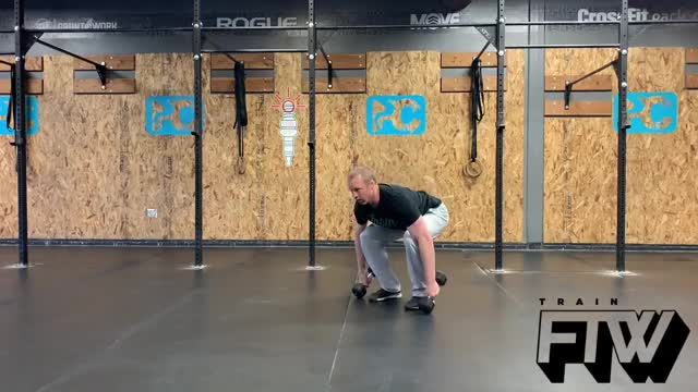 Double DB Power Snatch demonstration