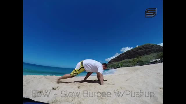 Slow Burpees with Push Up demonstration
