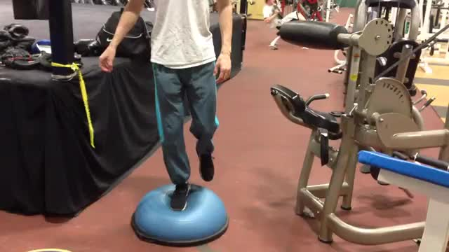 BOSU Ball Single-Leg Balance demonstration