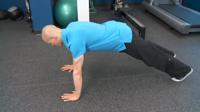 Yoga Push Up demonstration