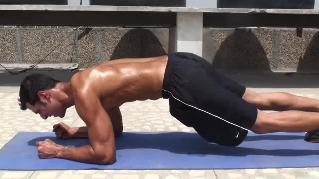 Plank to Push Up demonstration