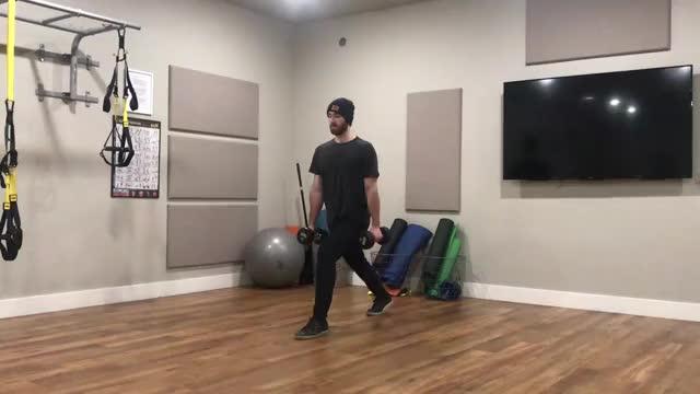 Male Dumbbell Split Jump demonstration