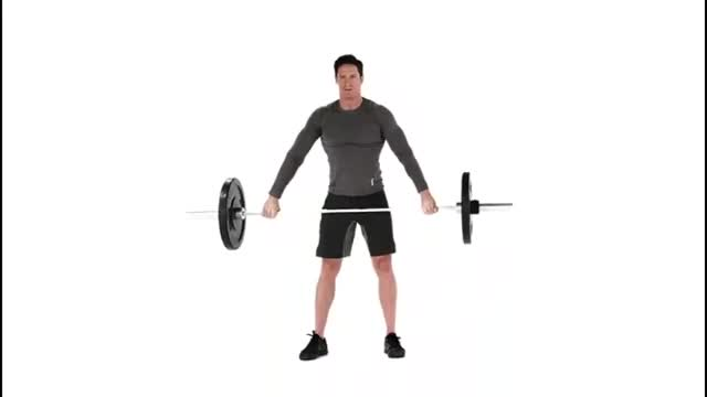 Wide-Grip Jump Shrug demonstration