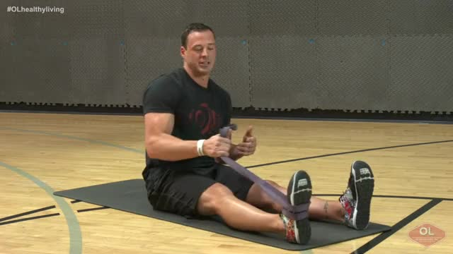 Assisted Hamstring Stretch demonstration
