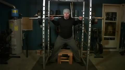 Reverse Band Box Squat demonstration