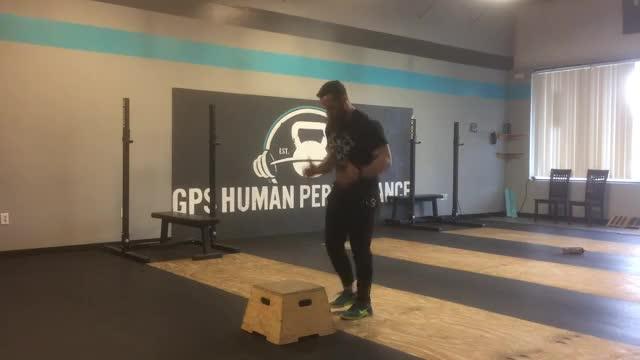 Single-Leg Box Jump demonstration