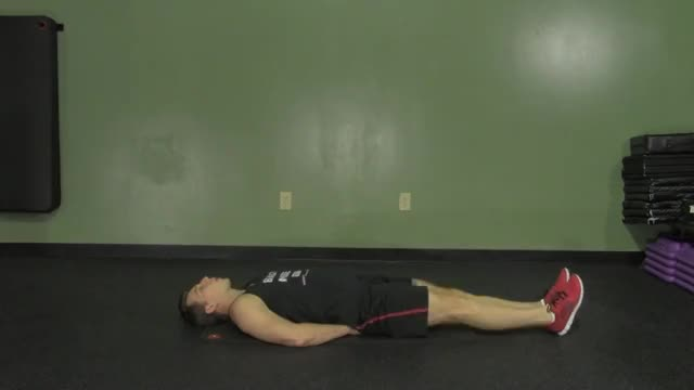 Lying Alternate Knee Raise demonstration