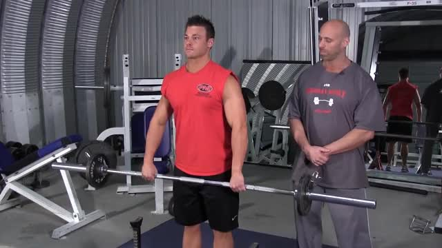 Barbell Wide Grip Upright Row demonstration