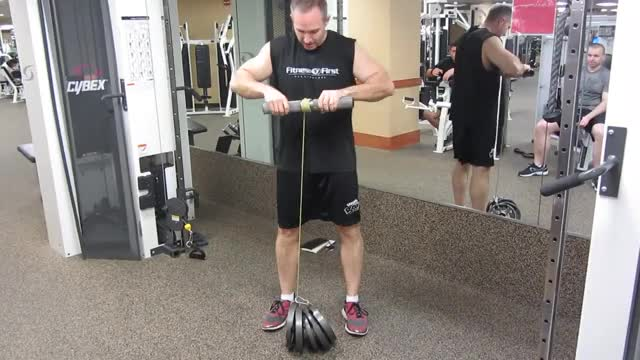 Cable Roller Wrist Flexion demonstration