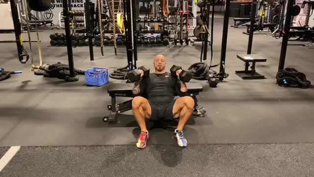 Hip Thrust DB Bench Press demonstration
