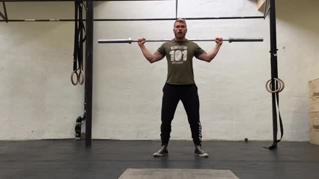 Snatch-Grip Behind-The-Neck Overhead Press demonstration