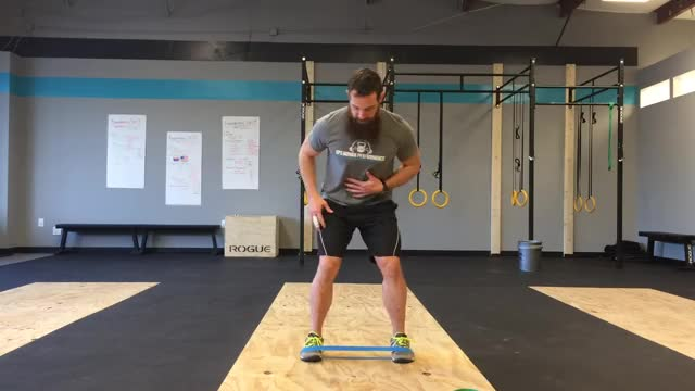 Male Lateral Band Walk demonstration