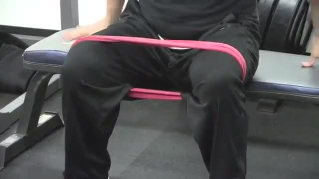 Male Seated Hip Abductor External Rotation demonstration