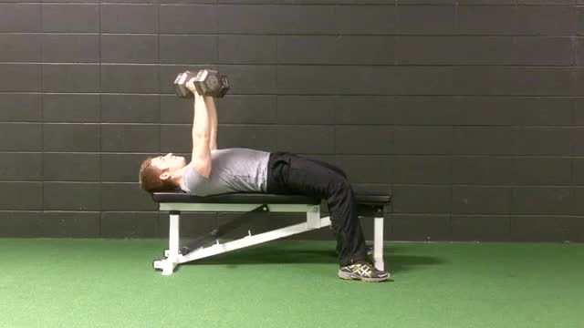 Alternating Dumbbell Bench Press demonstration