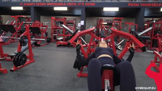 Female Lever Incline Chest Press (plate loaded) demonstration