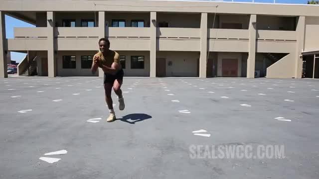 Single Leg Lateral Hop (over barrier) demonstration