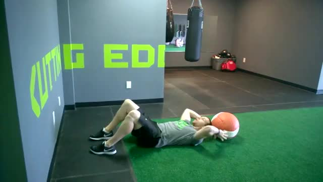 Medicine Ball Overhead Throw Sit-up demonstration