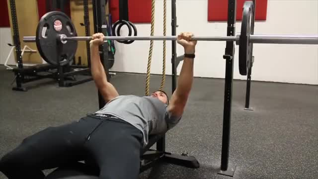 Male Barbell Bench Press demonstration