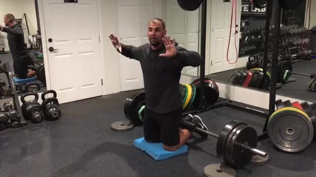 Self-assisted Inverse Leg Curl (on floor) demonstration