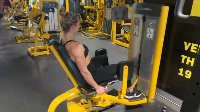Female Lever Seated Hip Abduction demonstration