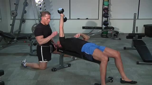 Lying Single Dumbbell Extension demonstration