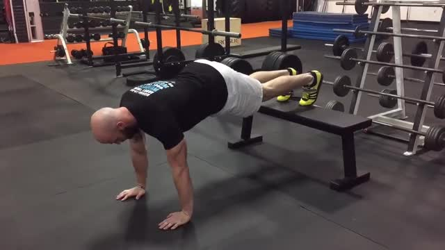 Decline Pushup demonstration