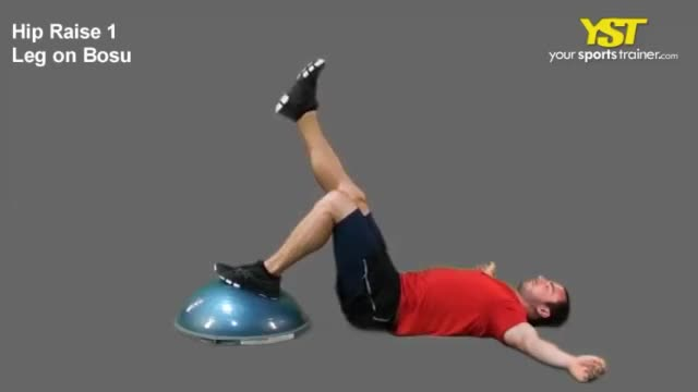 Single-Leg Hip Raise with Foot on Bosu Ball demonstration