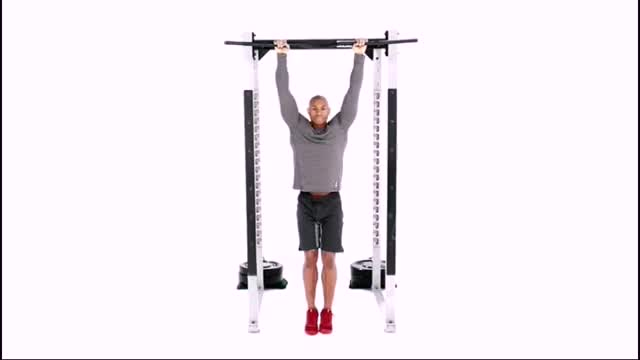 Hanging Knee Raise Oblique Crunch demonstration