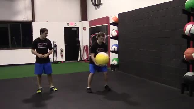 Medicine Ball Scoop Throw demonstration