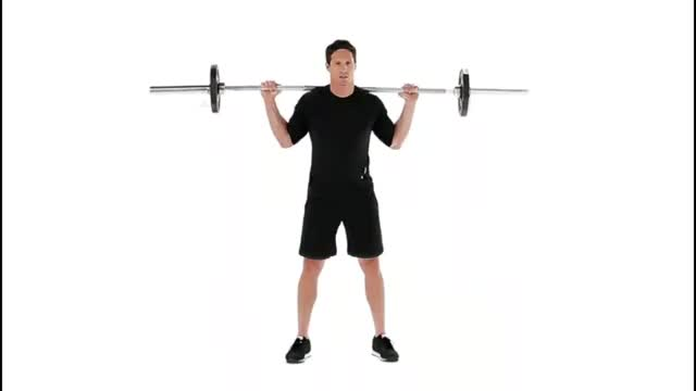 Barbell Quarter Squat demonstration