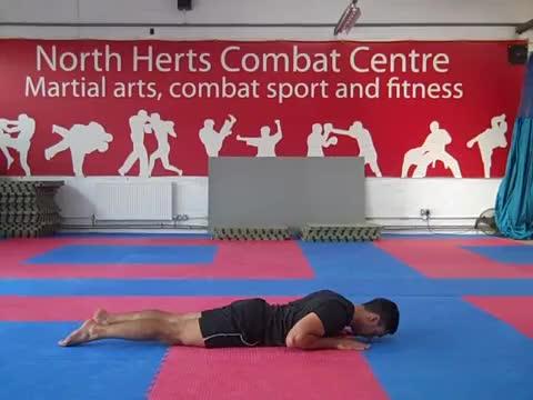 Male Floor Abdominal Stretch demonstration