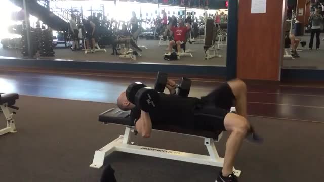 Twisting Dumbbell Bench Press demonstration