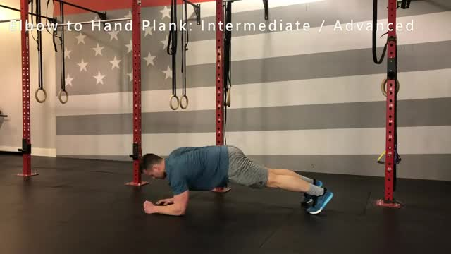 Elbow to Hands Plank demonstration