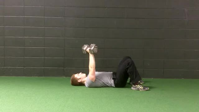Alternating Dumbbell Floor Press demonstration