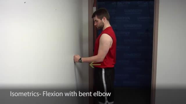 Isometric Flexion demonstration