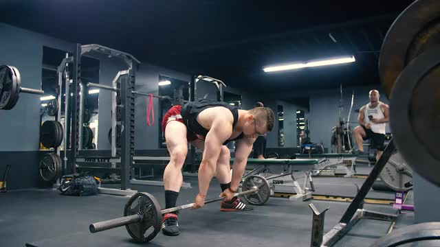 Barbell Sumo Deficit Deadlift demonstration