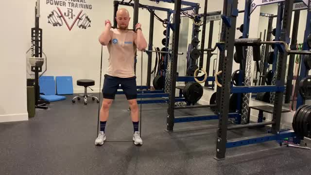 Banded Front Squat demonstration