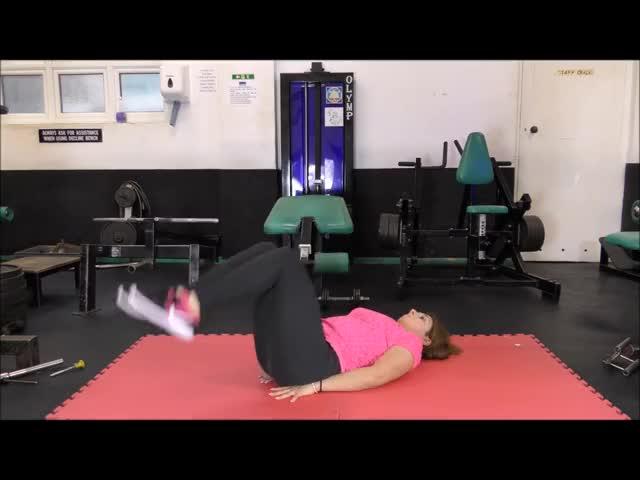 Female Bent-Knee Hip Raise demonstration