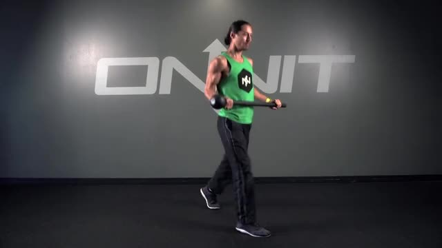 Static Lap Lunge Steel Mace Exercise demonstration